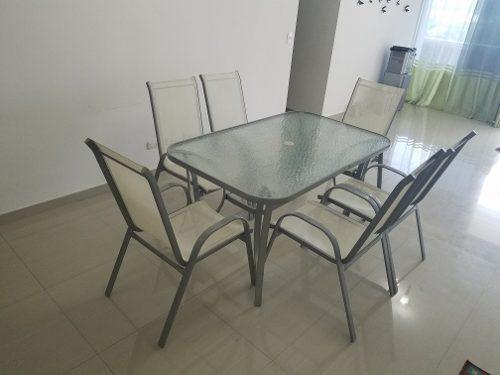 Juego De Mueble Para Terraza En Aluminio Oferton!