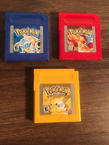 Pokemon Pack, 4 Juegos De Game Boy Color + Guia Pokémon!