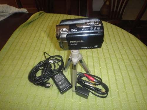 Video Cámara Filmadora Panasonic Sdr-h100 Con Trípode.