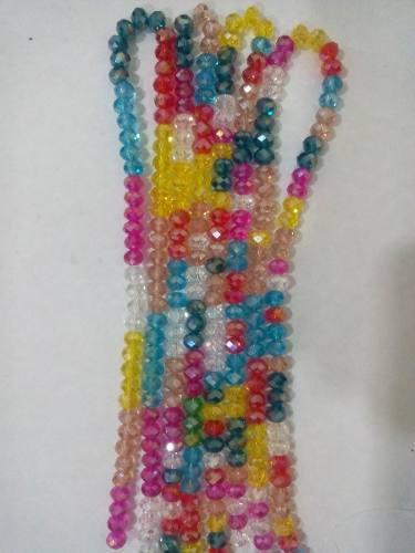 Cristal Checo Translucido 6 Y 8 Mm Tiras De Colores Variados