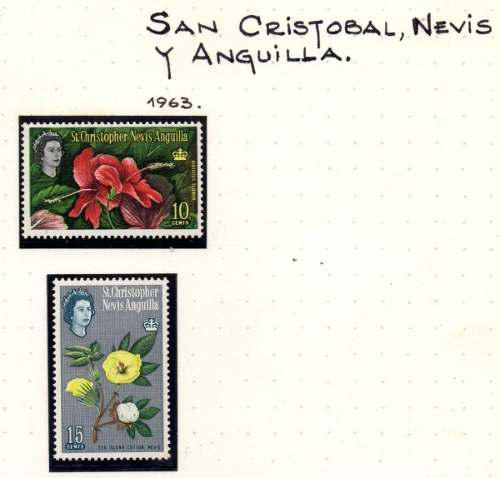 Estampillas San Cristobal Y Nevis Nuevas