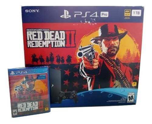 Playstation 4 Pro Ps4 Pro 1 Tb Red Dead Redemption 2 (420)
