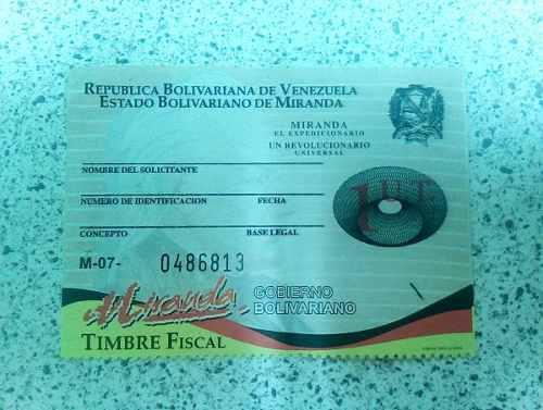 Timbres Fiscales Nacionales 04241647344