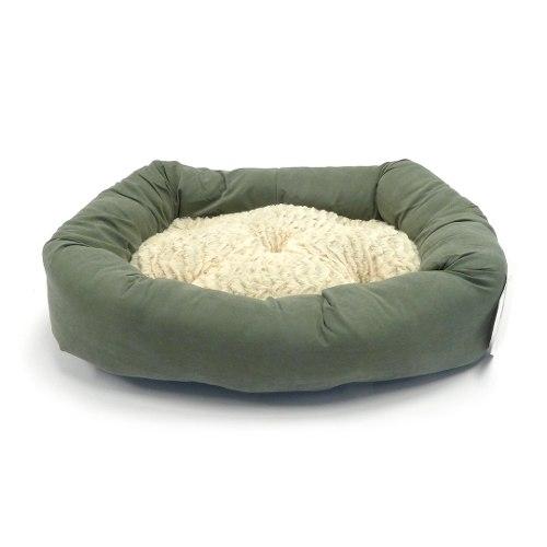 Cama Rectangular Para Perro 55 X 40 Cm Verde Pequeña