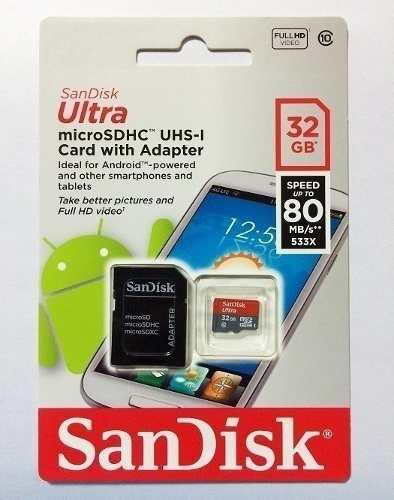 Memoria Micro Sd 32gb Sandisk Clase 10 (9 Green)