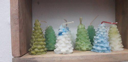 6) Velas De Arbolito Artesanales Aromatizadas Decorativa
