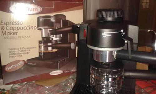 Cafetera Premium 4 Tazas Espresso Y Capuccino Negro