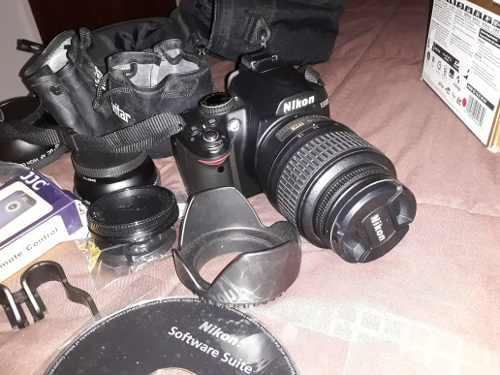 Cámara Profesional Nikon D Con Accesorios
