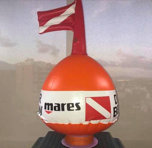 Flotador Con Bandera De Buceo Mares. Carrete Cordel 100 M.