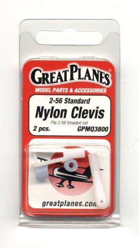Nylon Clevis 2-56 Standard Ref 3800 Great Planes. 3 Vrdes
