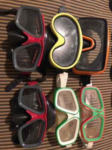Vendo Lote Completo De 6 Máscaras De Buceo Y 7 Snorkels