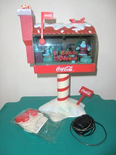 Adorno De Navidad Buzon De Los Deseos De Cocacola Nuevo