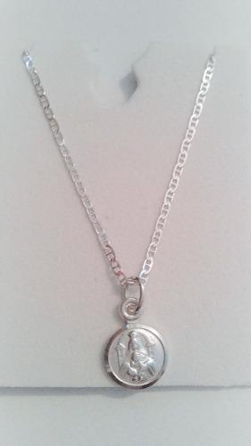 Cadena 45cm Plata Italy 925 + Medalla Virgen De Coromoto