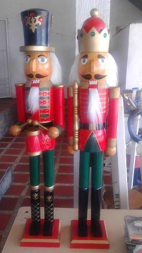 Cascanueces De Navidad Con Corona, Cascanuez Gigante 100vrds