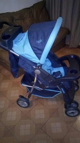 Coche Para Bebe Marca Kid Go, Color Azul