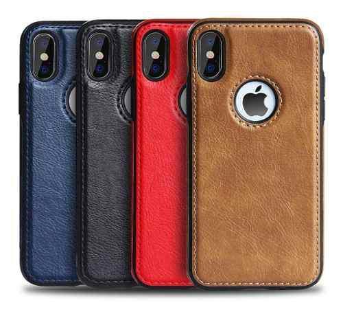 Forro Cuero iPhone 6 6s 7 8 Plus X Xs Xr Xs Max (8)