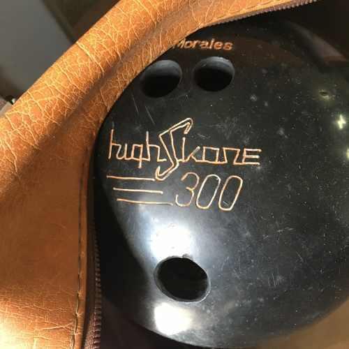Lmh040 Bolso Y Bola De Bowling Marca High Skore 300 12 Lbs.