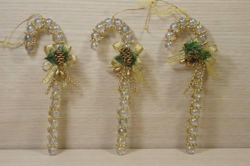 Set 3 Bastones Cristal Para Arbolito De Navidad