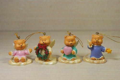 Set 4 Adornos Para Arbolito De Navidad Christmas Time