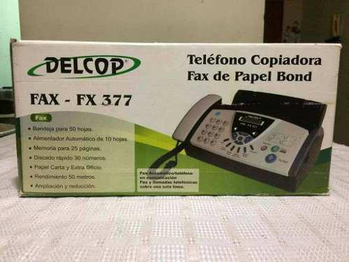 Telefono Copiadora Fax De Papel Bond Delcop Fax-fx377