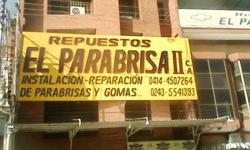 Venta Reparacion E Instalcion De Parabrisas Al Mayor Y Detal