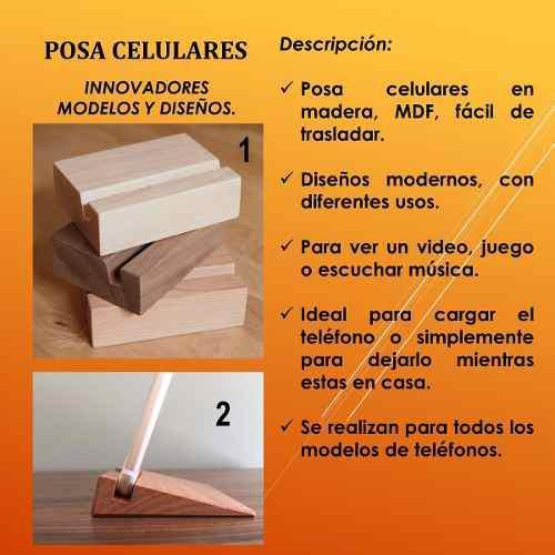 Base / Soporte, Porta Celular De Madera