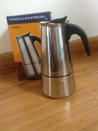 Cafetera Greca Italiana En Acero Inoxidable Para 6 Tazas
