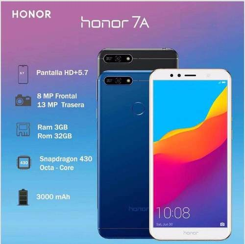 Celular Huawei Honor 7a 32gb. Tienda Fisica