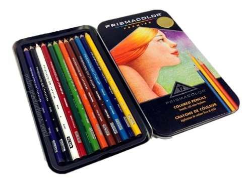 Colores Prismacolor Premier 12 Colores Estuche Metalico!!!