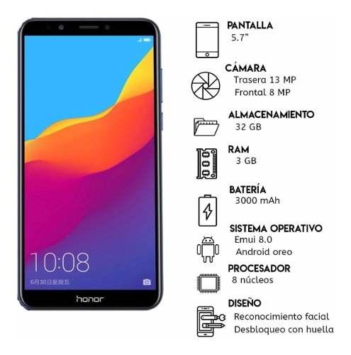 Huawei Honor 7a, 3gb, 32 Gb. *135d* Tienda Física +vidrio