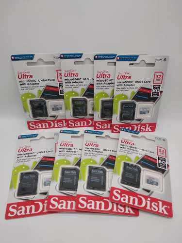 Memoria Micro Sd Hc Sandisk 32gb / Somos Tienda Fisica 9vrd