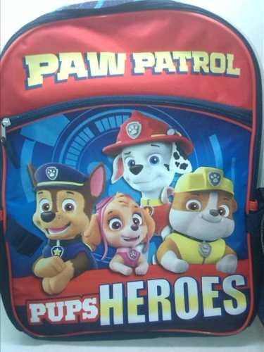 Bolso Morral Escolar Con Lonchera Paw Patrol