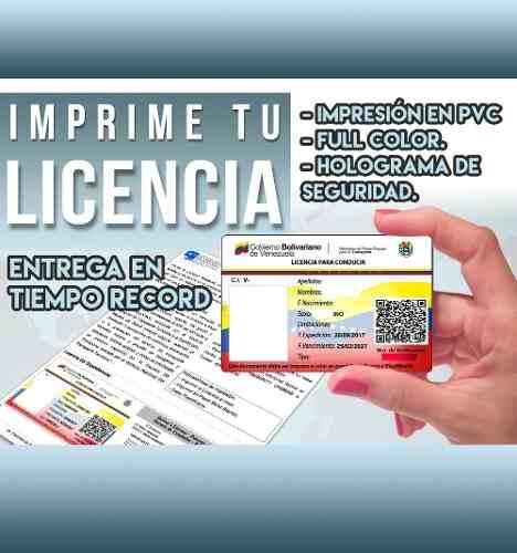 Impresión Licencia En Pvc Con Holograma Tienda Altamira