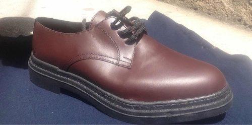 Zapatos De Cuero Con Suela De Goma