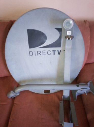 Antena Directv Usada Foco Lente Lnb Gris Hd Dualcoaxial 15$