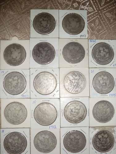 Colección De 18 Monedas Fuerte De Plata