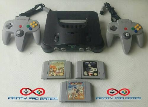 Combo Nintendo 64 Original 2 Controles 2 Juegos Garantia