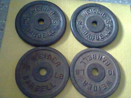 Discos De Pesas 4 Mediograndes Weider Barbell