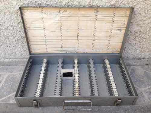 Estuche Vintage Atco Caja Para 150 Diapositivas O Monedas