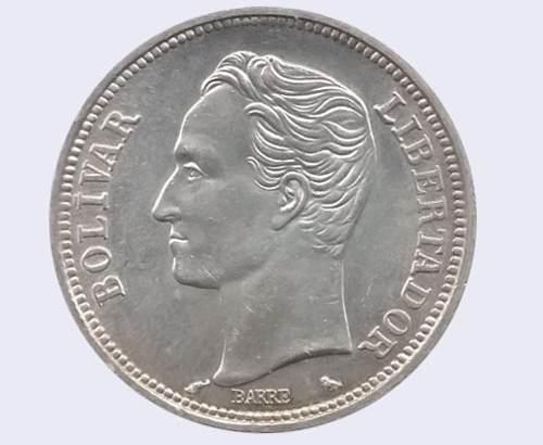 Moneda 2 Bolívares De Plata (barre) 10gr / Lei )