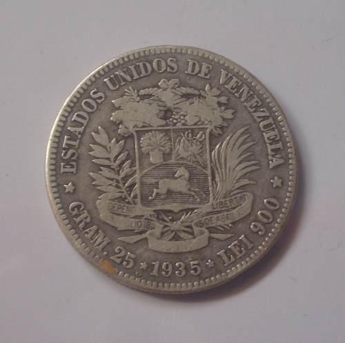 Moneda 5 Bolívares (fuerte) De . Excelente Estado