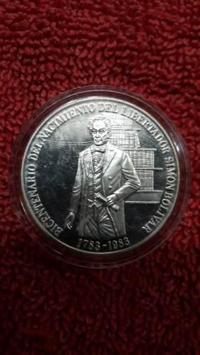 Moneda Bicentenario Del Nacimiento Del Libertador