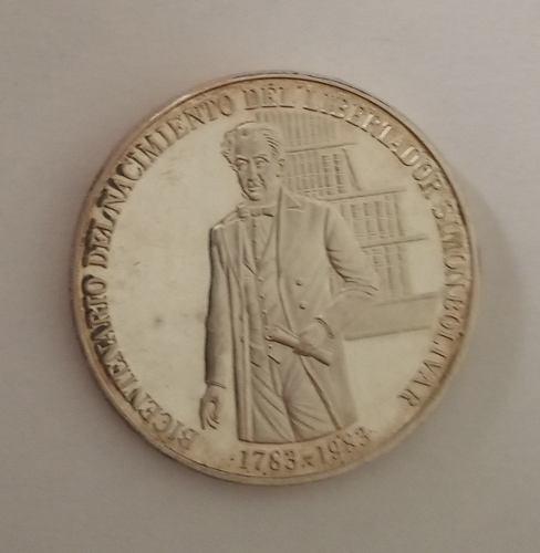 Moneda Conmemorativa Bicentenario Del Libertador  Bs