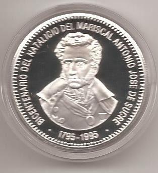 Moneda D Plata Conmemorativa Antonio Jose D Sucre