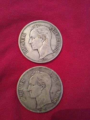 Moneda De 5 Bolívares- Fuerte De Plata De