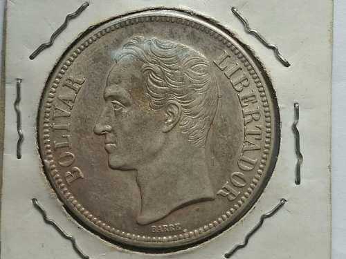 Moneda De Plata 5 Bolivares Fuerte