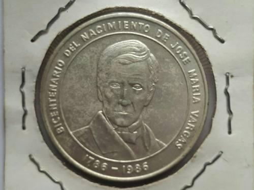 Moneda De Plata Bicentenario Del Nacimiento Jose Maria Varga