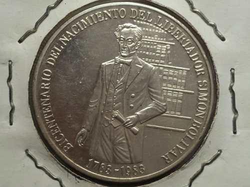 Moneda De Plata Bicentenario Del Natalicio Del Libertador