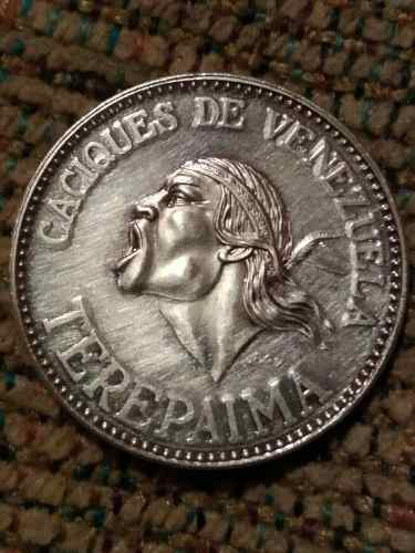 Moneda De Plata Cacique De Venezuela Terepaima