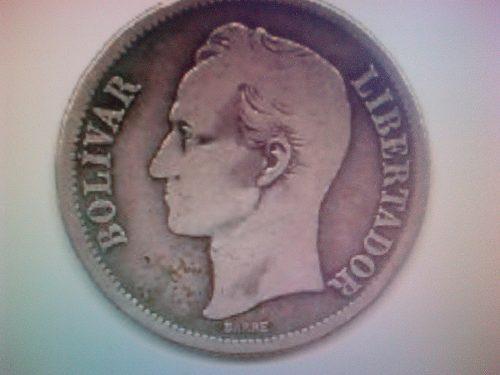 Moneda De Plata De 1 Bolivar Del Año
